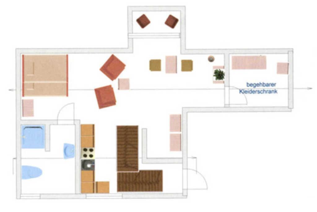 Ferienwohnungen 'Haus Sonnenhügel', 1-Raum-App. 'M