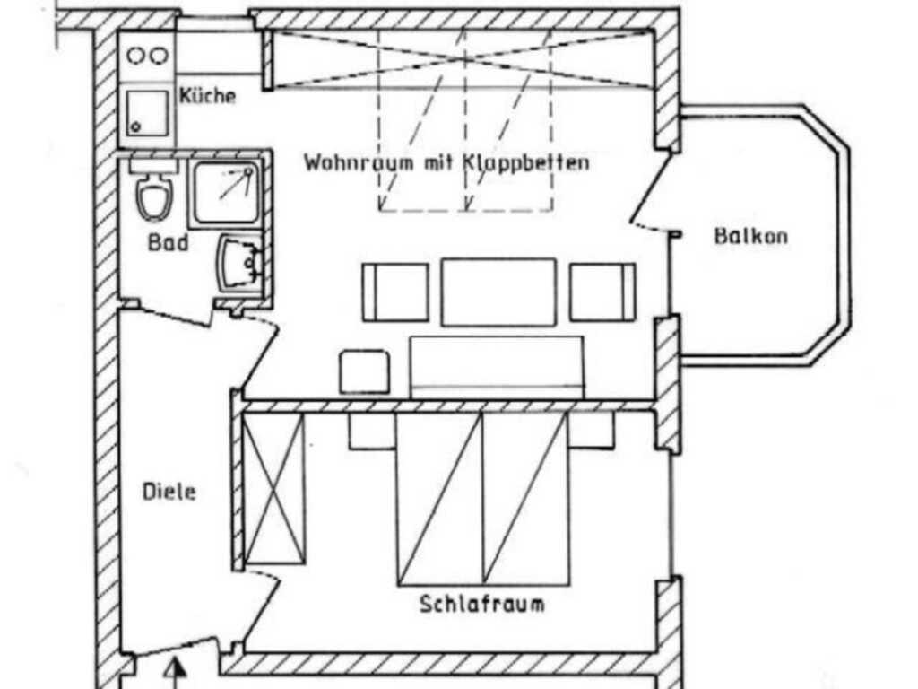 BUE - Appartementhaus Holländerei, App. 23 2-Raum
