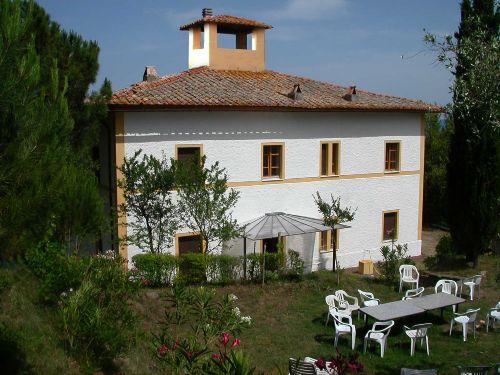 Die Westseite der Villa