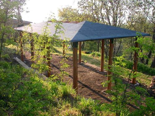La Tettoia, der Pavillon im Park