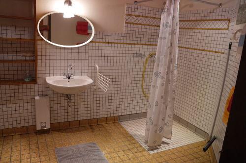 Dusche und Saunaschlauch