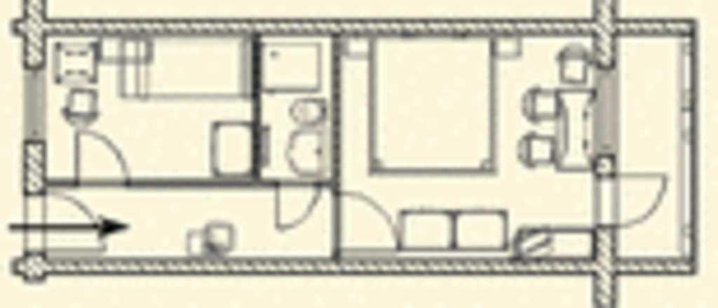 Pension Dünenhaus, Mehrbettzimmer 207