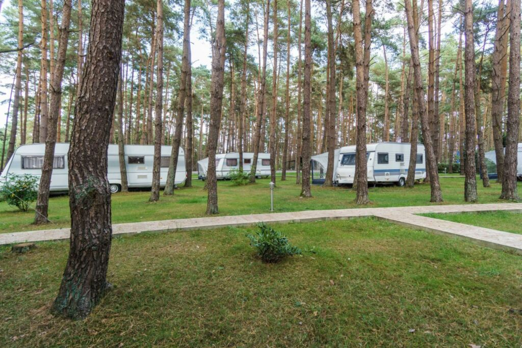 Urlaub im Wohnwagen - mitten im Wald, Wohnwagen 01