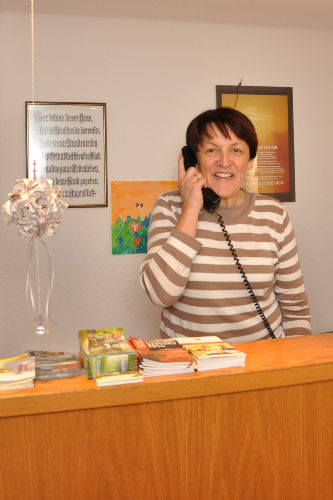 Ihre Gastgeberin, Susanne Albrecht