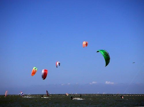 Kiter auf dem Ijsselmeer