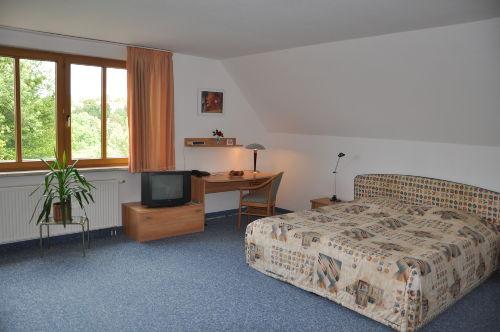 Schlafbereich in einer Ferienwohnung