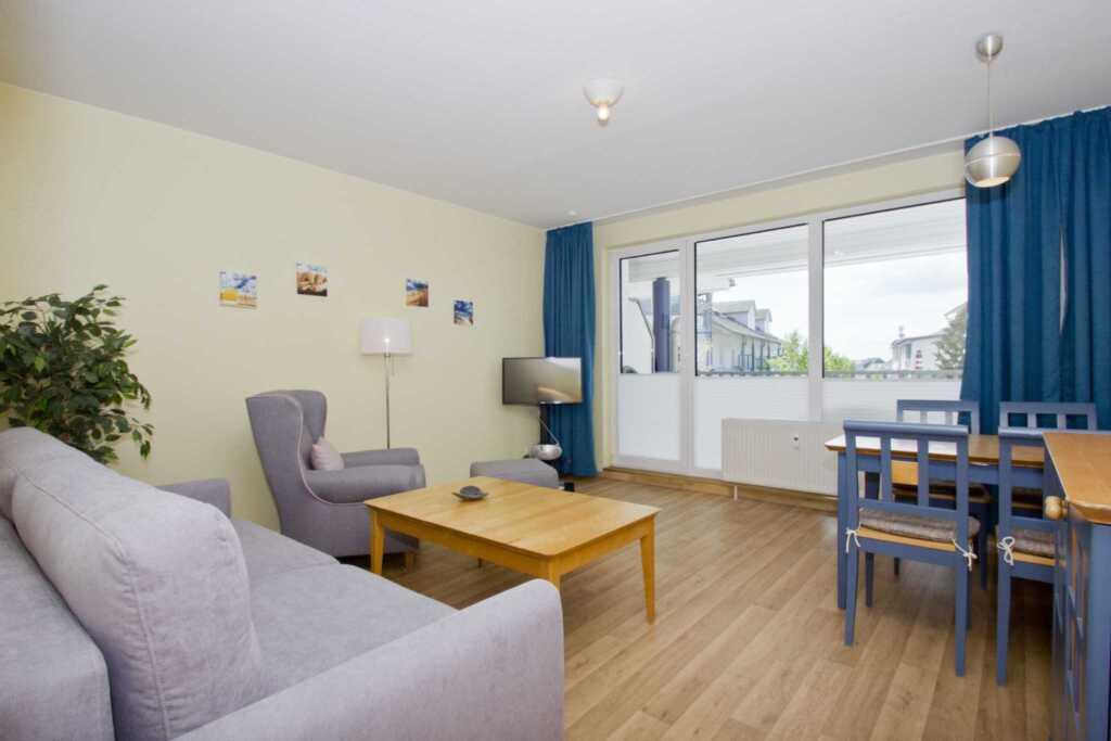 Haus Rügen, A 08: 55 m², 2-Raum, 4 Pers., Balkon (