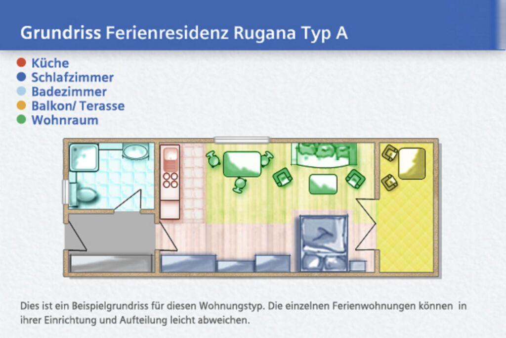 Ferienresidenz Rugana am Bakenberg, A B24: 35 m²,
