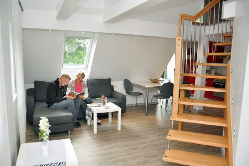 Galerie-Fewo mit 2 Süd-Balkons