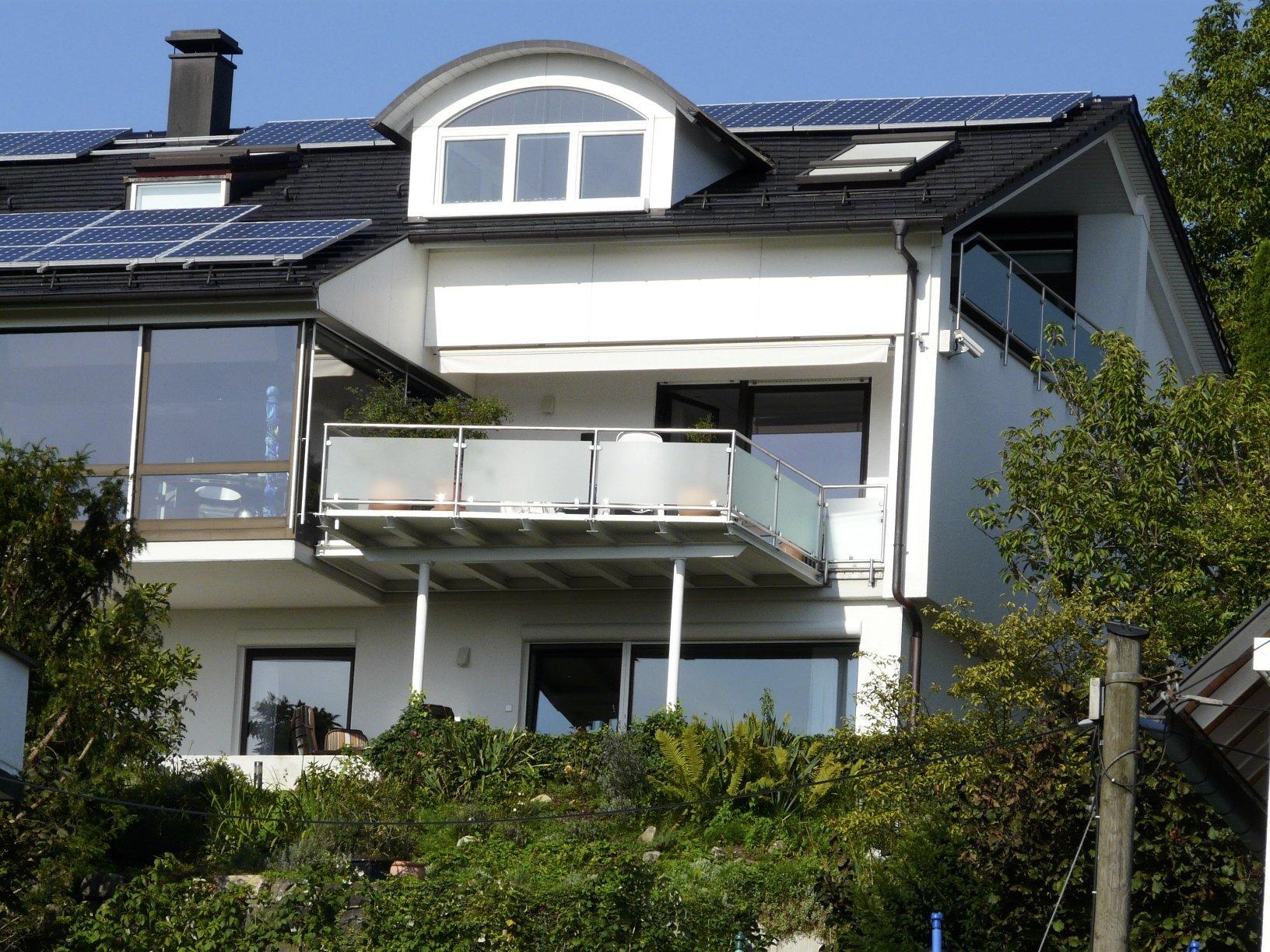Blick v.S�den auf Ferienwohng./Terrasse