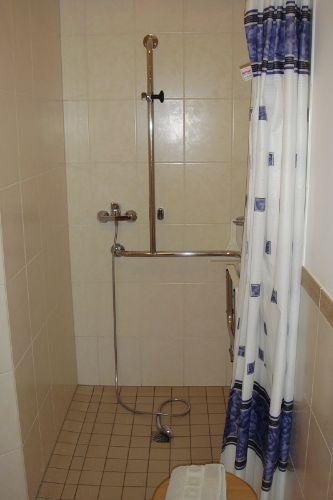Dusche rollstuhlgerecht