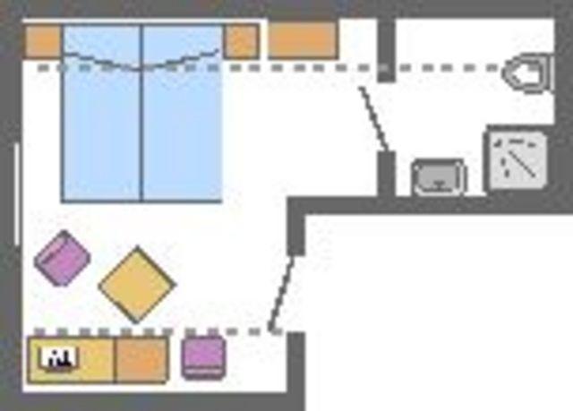 Pension in Prerow, 01 - Doppelzimmer mit Balkon