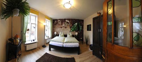 Schlafzimmer (Panorama Bild)