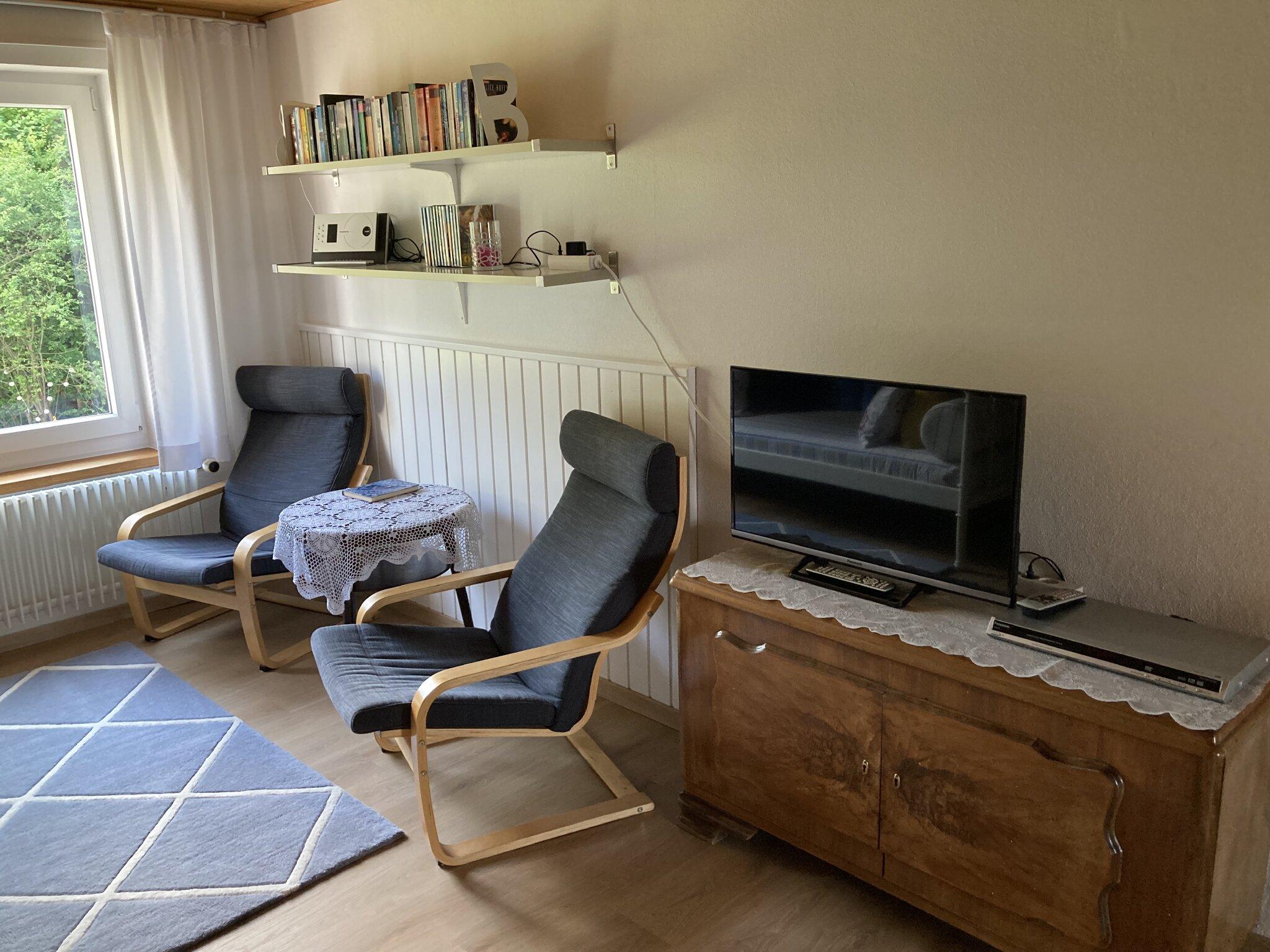 Wohnzimmer mit Schlafm�glichkeit