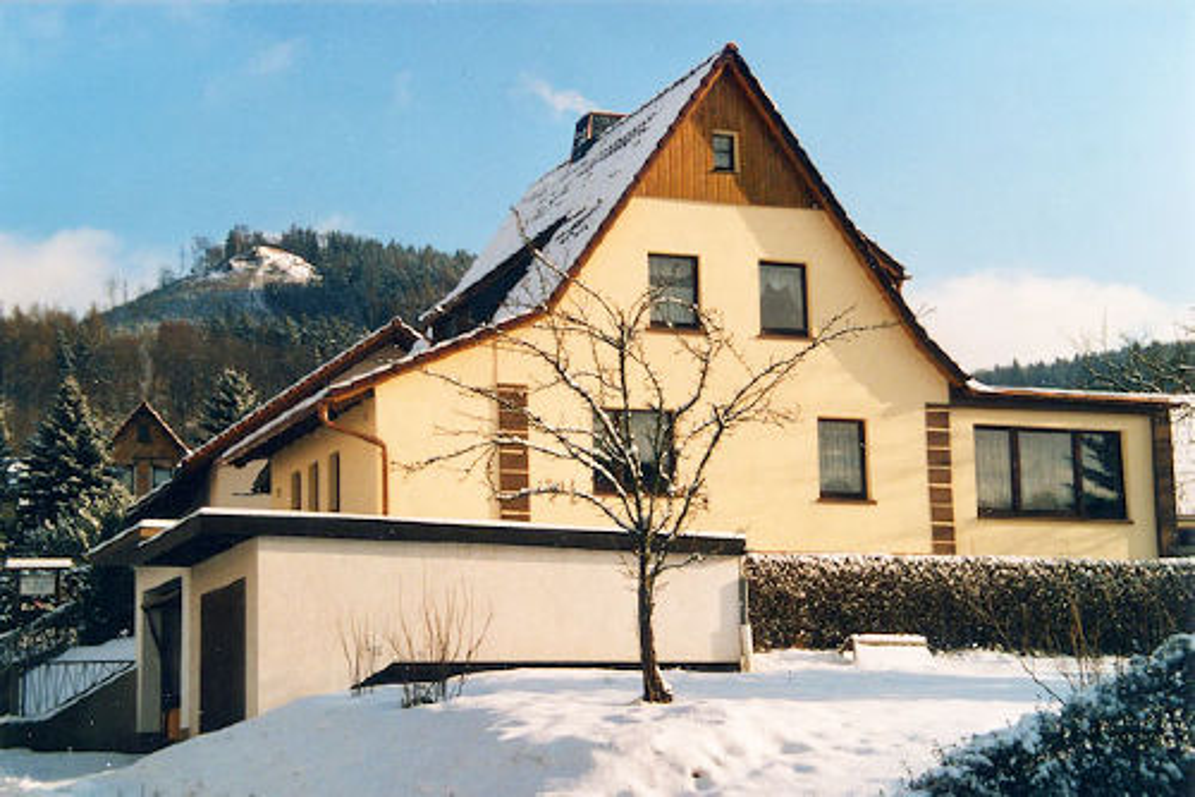 Ferienwohnung Bergblick, Winteransicht
