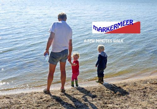 Gerard mit Enkelkinder am Markermeer