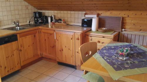 K�chenzeile in Wohnk�che