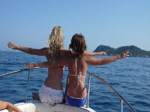 Bootfahren auf dem Mittelmeer