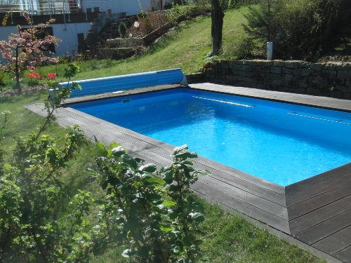 Der Pool wird ab Frühjahr beheizt