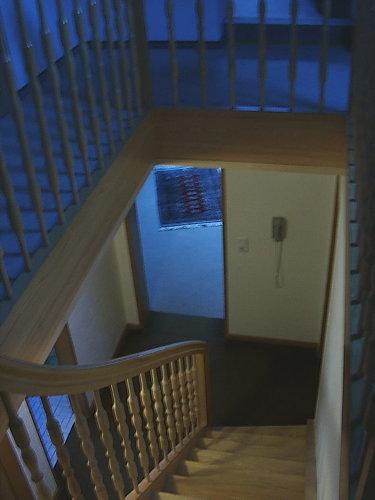 Treppenaufgang zu den oberen Schlafzimme