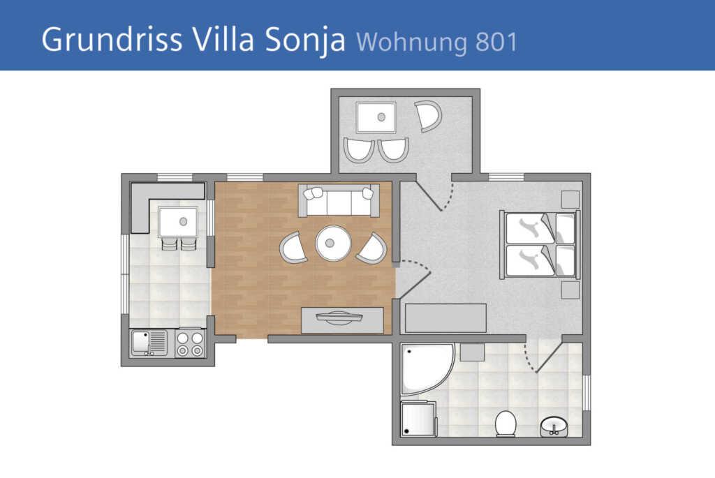 Villa Sonja, A 801: 50m�, 2 Raum, 4 Pers., Terrass