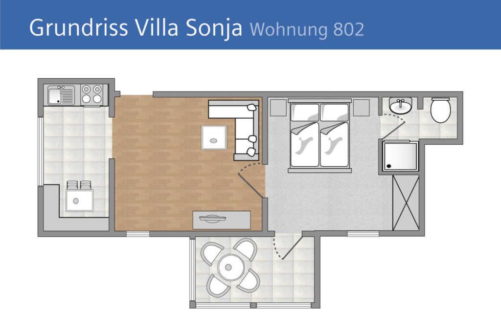 Villa Sonja, A 802: 50m², 2 Raum, 4 Pers., Veranda