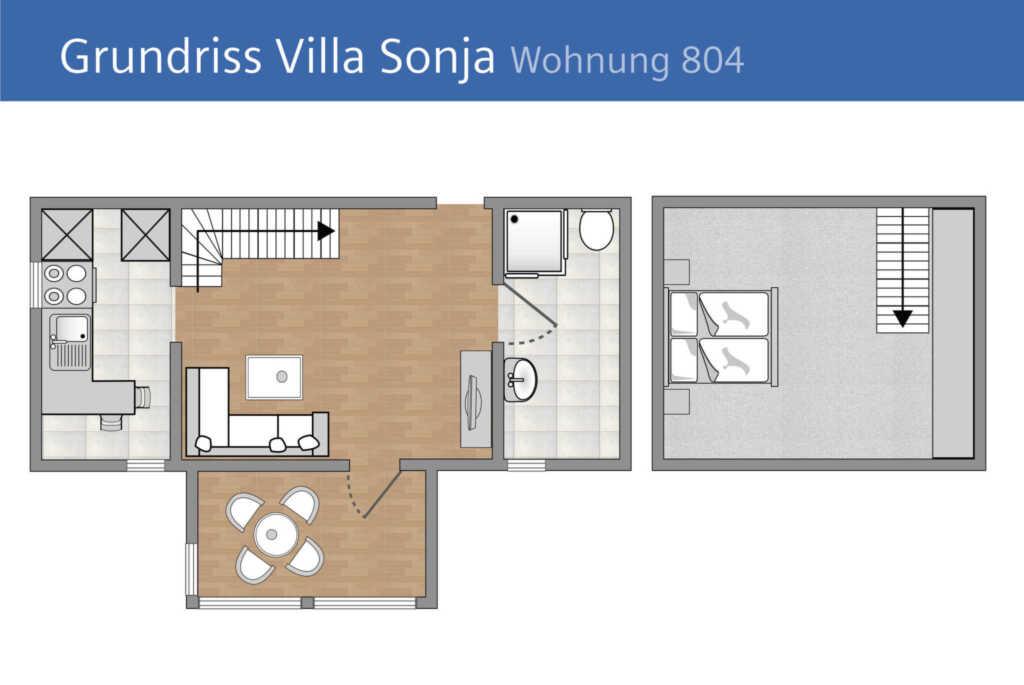 Villa Sonja, A 804: 50m², 2 Raum, 4 Pers., Veranda