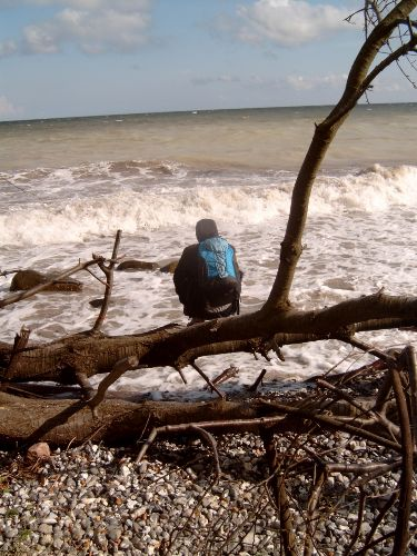 Lohmer Strand, ca 1km entfernt