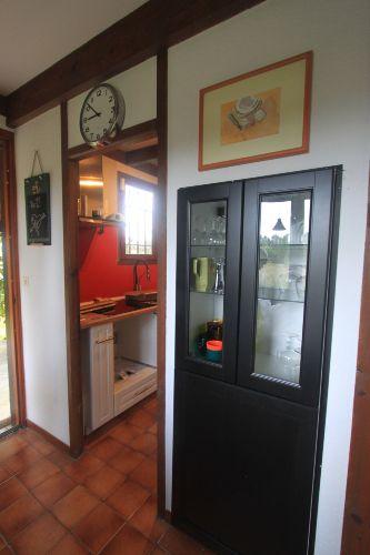 Blick vom Esszimmer in die neue Küche