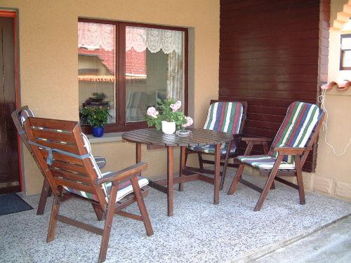 Terrasse an einer Ferienwohnung