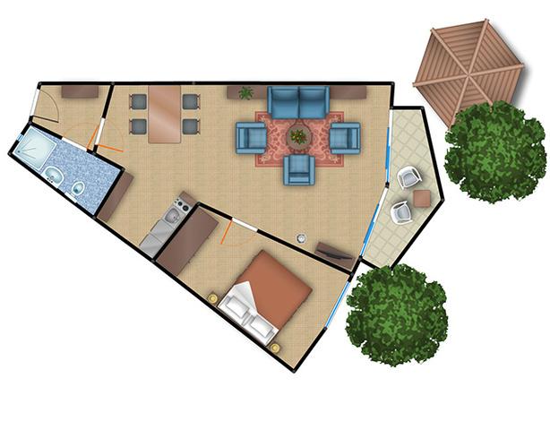Fischerhaus Plau am See, Komfort-Appartement.2