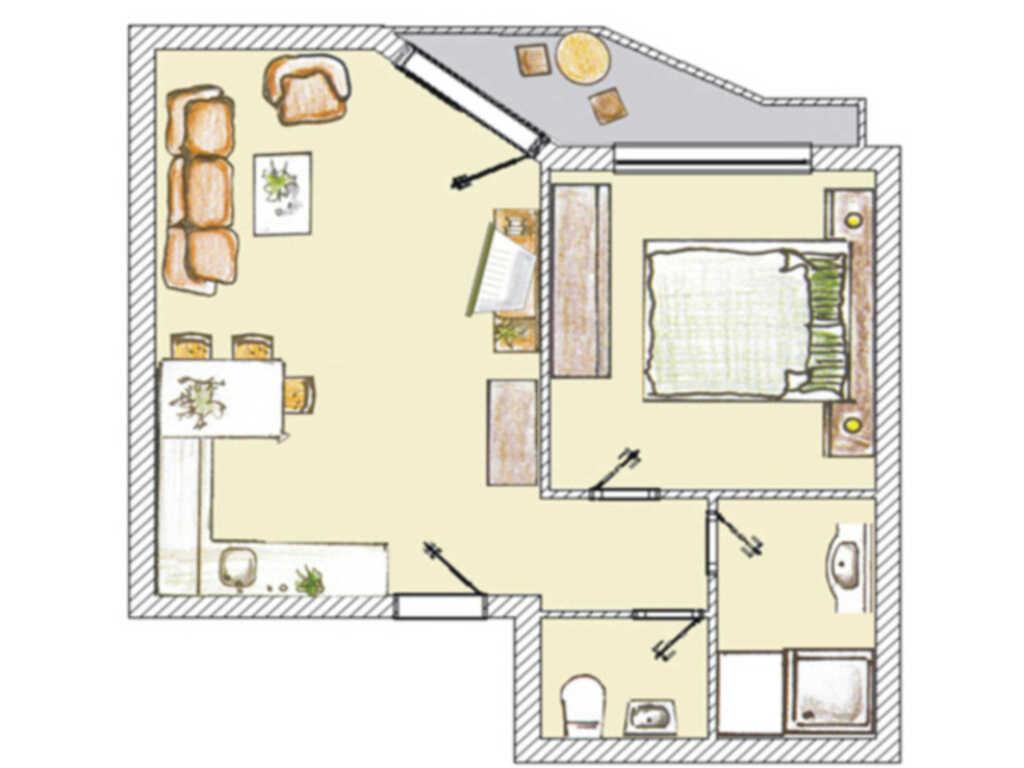 (Brise) Villa Seedüwel, Seedüwel 2-Zi App. 115