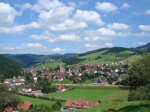 Blick auf Oberharmersbach Dorf
