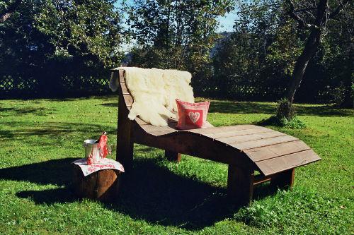 Relaxliege im Garten