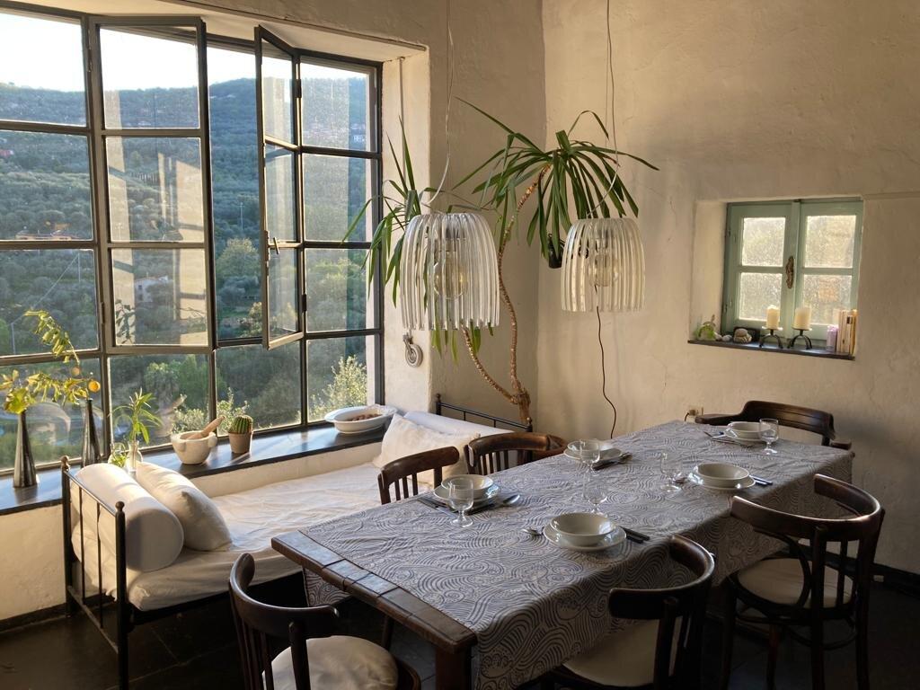 Terrasse, Blick in die Berge
