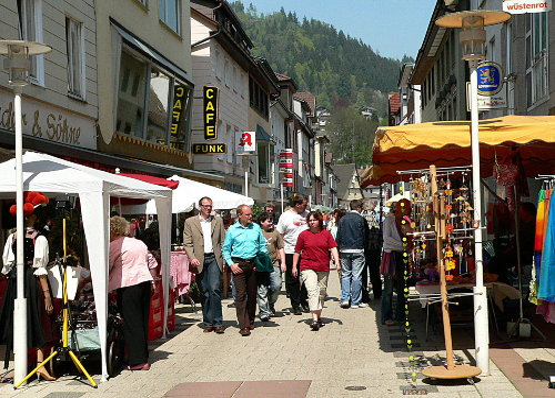 Fußgängerzone in Bad Wildbad