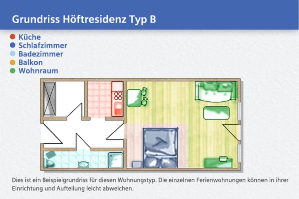 Höftresidenz, B1 25: 35 m², 2-Raum, 2 Pers., Garte