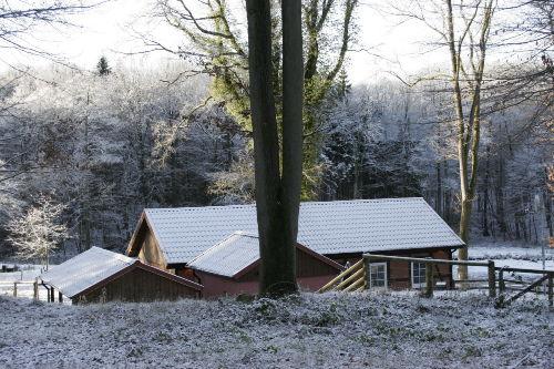 Dornröschenhaus im Winter