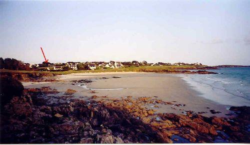 Lage des Hauses am Strand von Dourveil