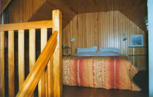 Schlafbereich unter dem Dach