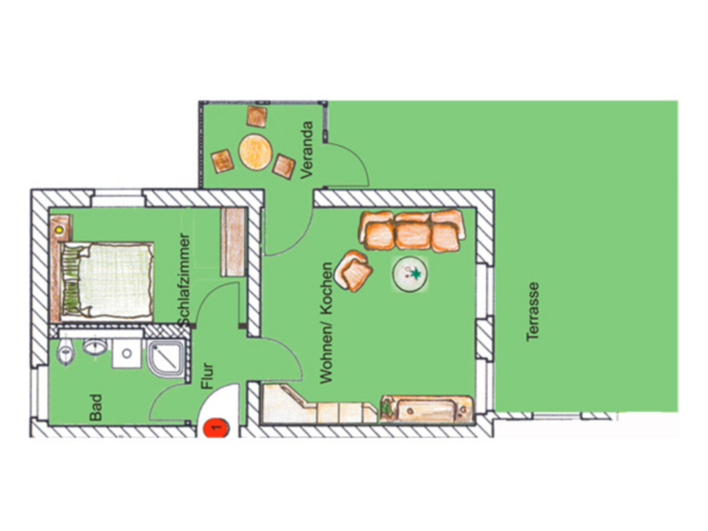 (Brise) Villa Emmi, Emmi 2-Zi-App. 1