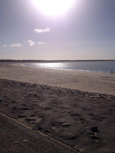 Blick über den Strand (17km lang)