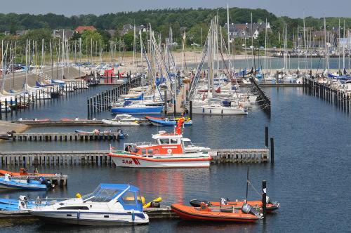 Der Seenot-Rettungs-Kreuzer in Schilksee