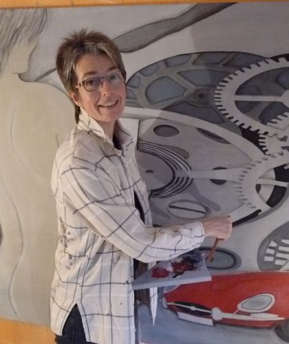 Heike Sch�rman, Hotelkauffrau u Malerin