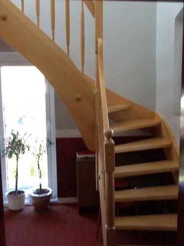 Treppe zur Dachgeschosswohnung