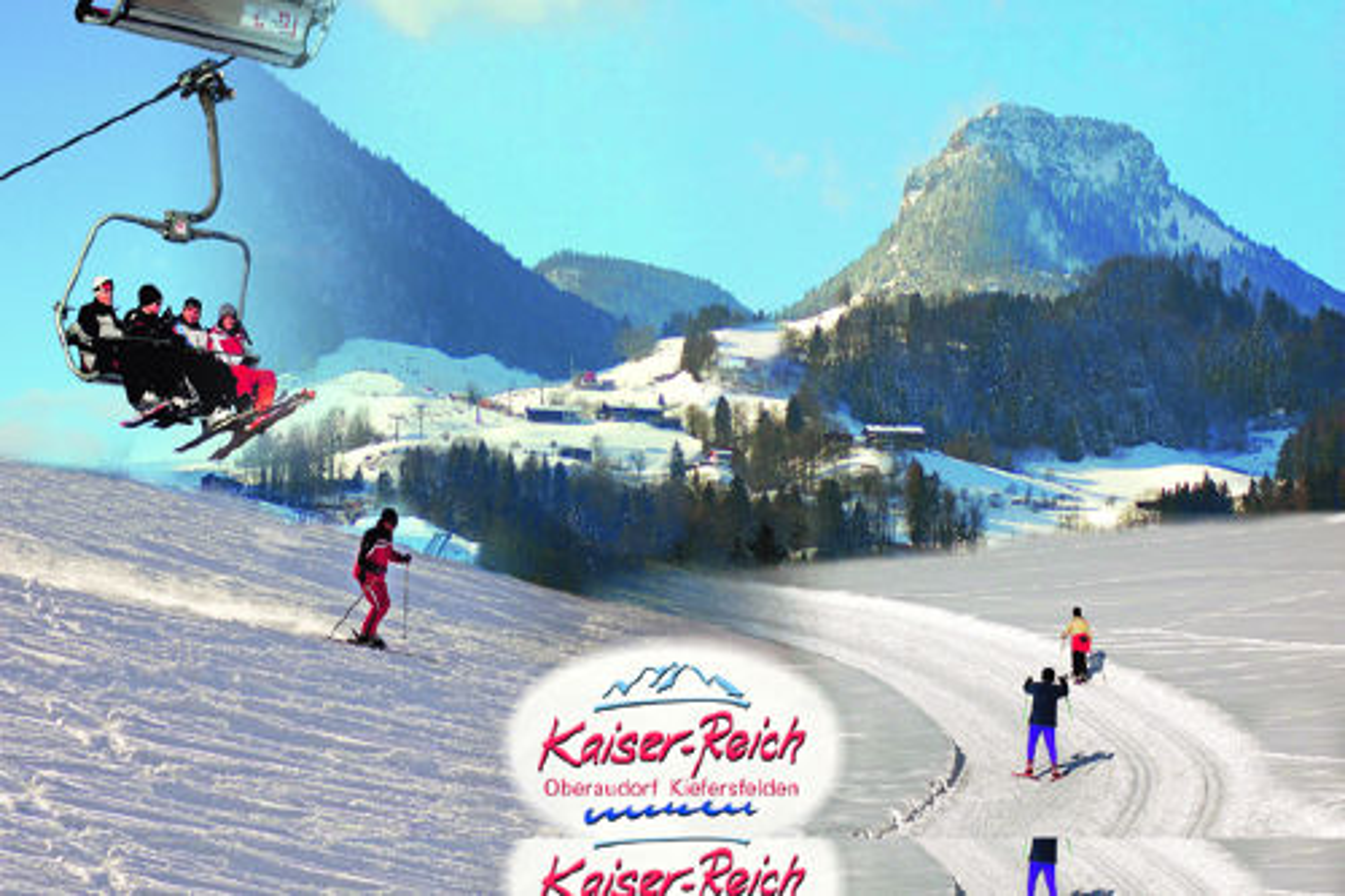 Skifahren und Langlauf und Rodeln