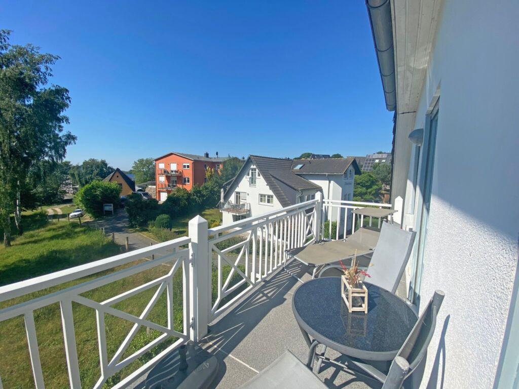 F.01 Haus Südstrand Whg.06 mit Balkon und Meerblic