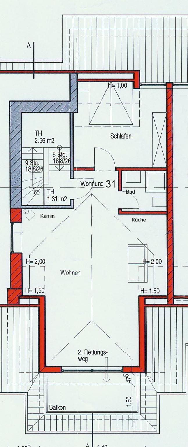 Villa Vogelsang, W 31; 3-Raum; 1.OG; Balkon; 61m²