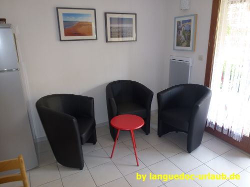 Blick auf die Sitzgruppe im Wohnzimmer