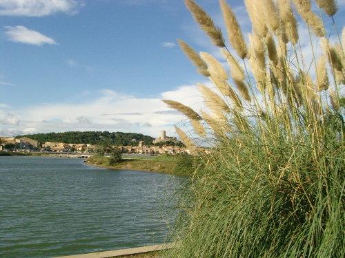 Der Blick auf die Altstadt von Gruissan